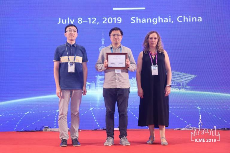 ICME 2019 best demo award goes to Yuan Gao, Reinhard Koch, Robert Bregovic and Atanas Gotchev for LIGHT FIELD RECONSTRUCTION USING SHEARLET TRANSFORM IN TENSORFLOW
