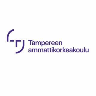 Tyylitelty kuva kasvoista ja teksti Tampereen ammattikorkeakoulu.